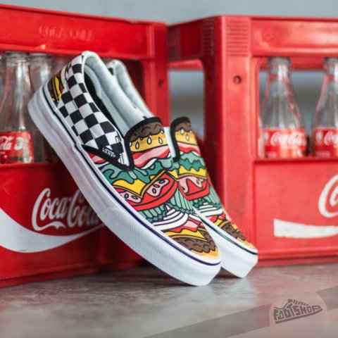 Nazouvací tenisky Vans Classic Slip-On Late Night / Burger / Check