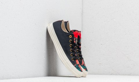 Converse Chuck Taylor All Star OX Black/ Cherry Red/ Egret