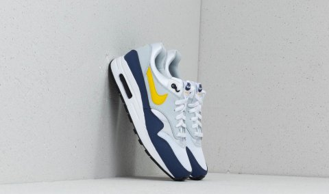 Nike Air Max 1 (GS) White/ Tour Yellow-Blue Recall